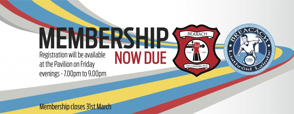 Registration will take place on Fridays 7-9pm at the Pavilion until the 31st March.