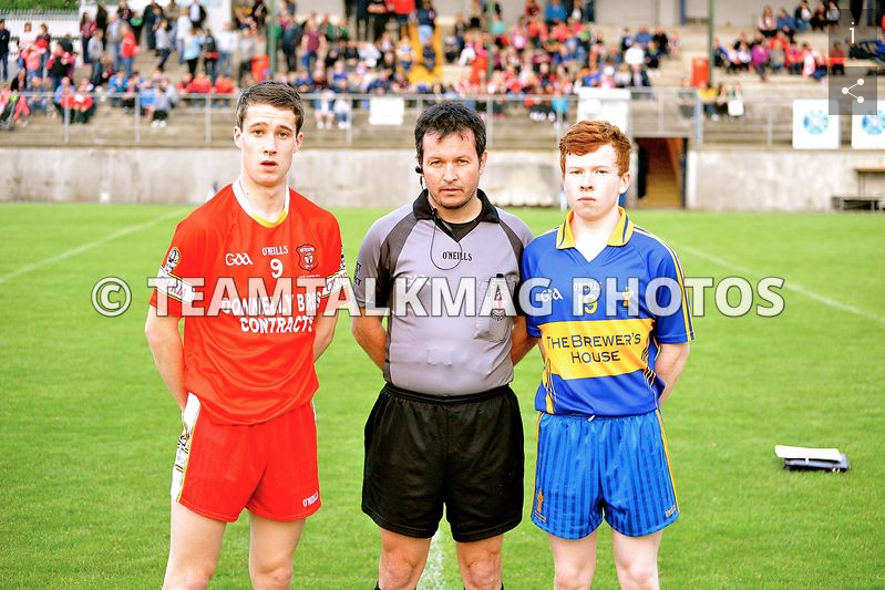 Minor Boys Captain Oisin Donnelly before the final.