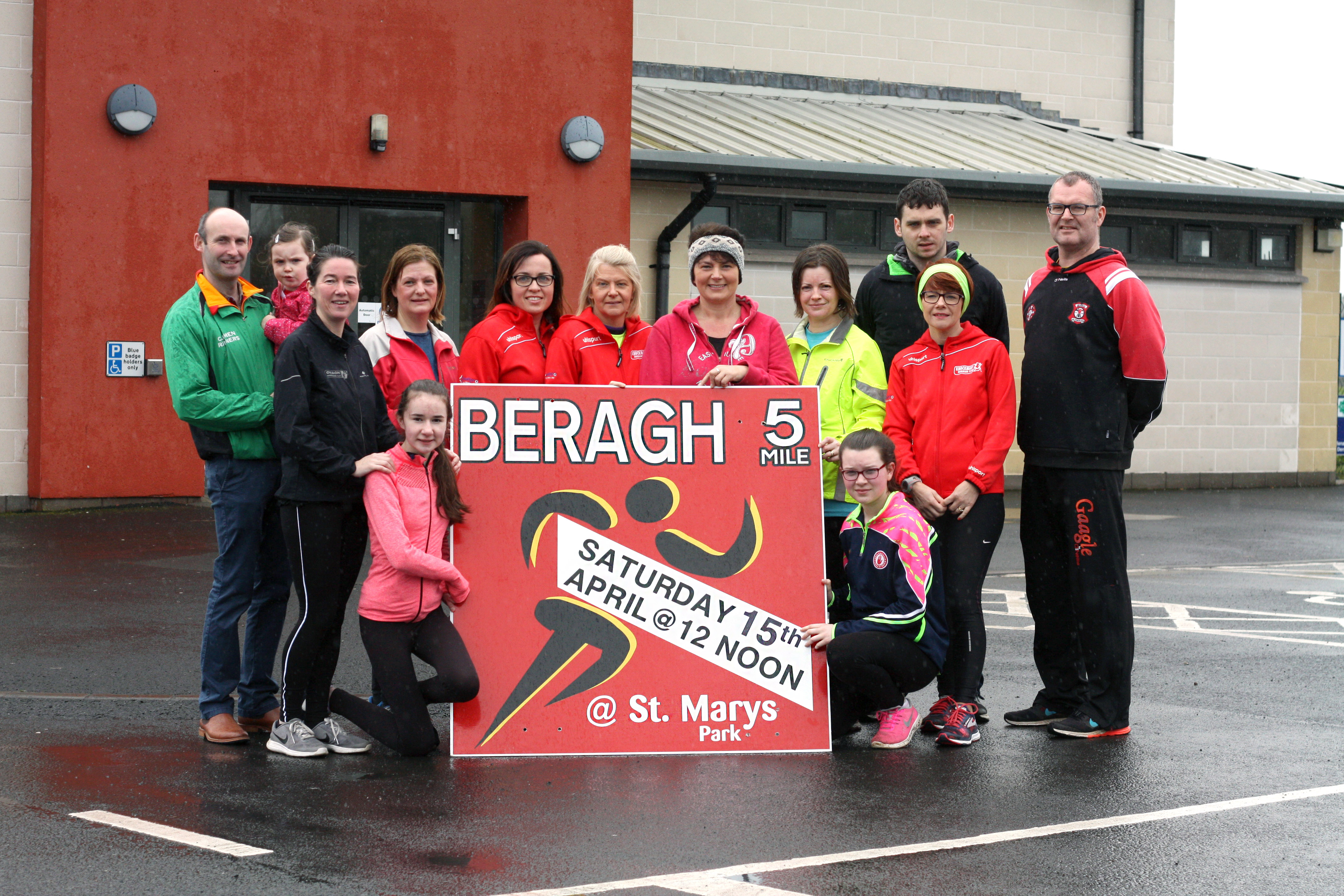 Members of the Beragh 5 organising committee with some of the participants in the Beragh Red Knight's couch to 5K programme looking ahead to this year's event on Saturday April 15.